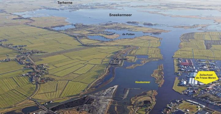 Zeilen acommodatie in centraal Friesland-Friese Meren