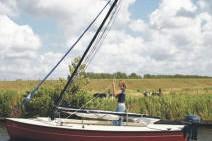 Valk huren in Friesland - mast strijken met gasveer
