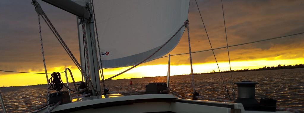 fox 22 huren - zonsondergang op het Heegermeer