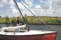 Valk huren Friesland - mast met gasveer